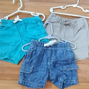 Bundle of three Old Navy Boys shorts 12-18m